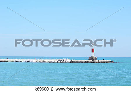 Stock Photo of Red Channel Marker k6960012.