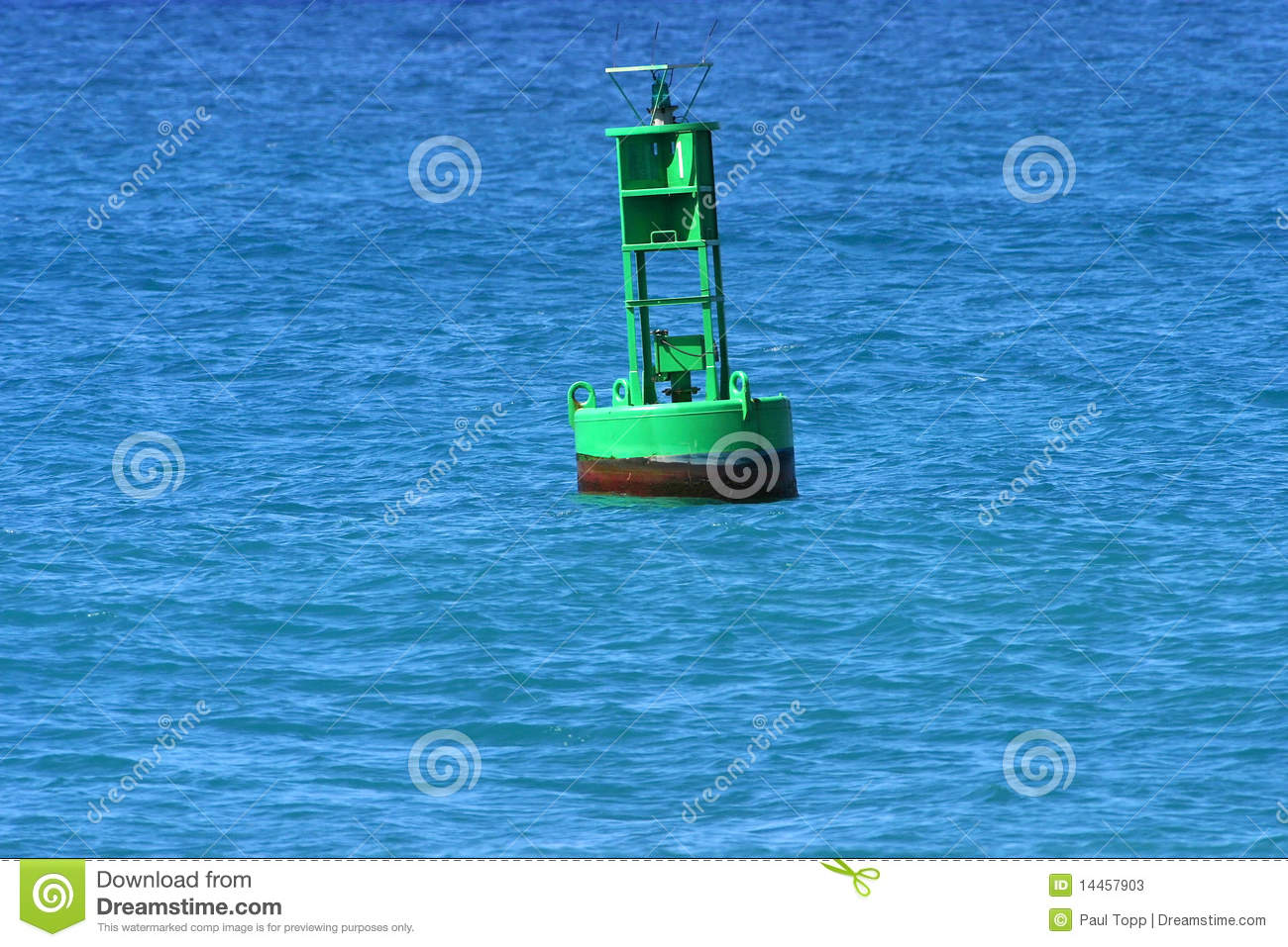 Channel Marker Buoy Stock Photos.