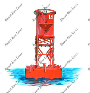 Channel Marker Buoy Boat Boating Home Office Room Camp Decor Decal.