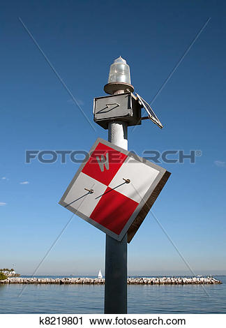 Stock Photography of Channel Marker k8219801.