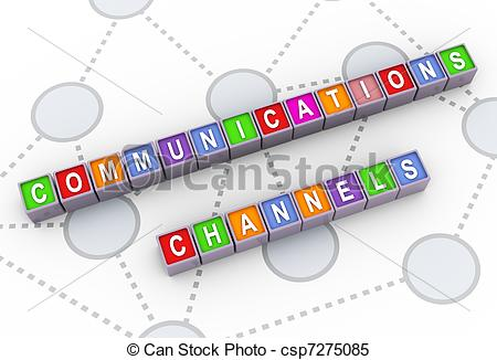 Stock Illustrations of 3d communications channels.