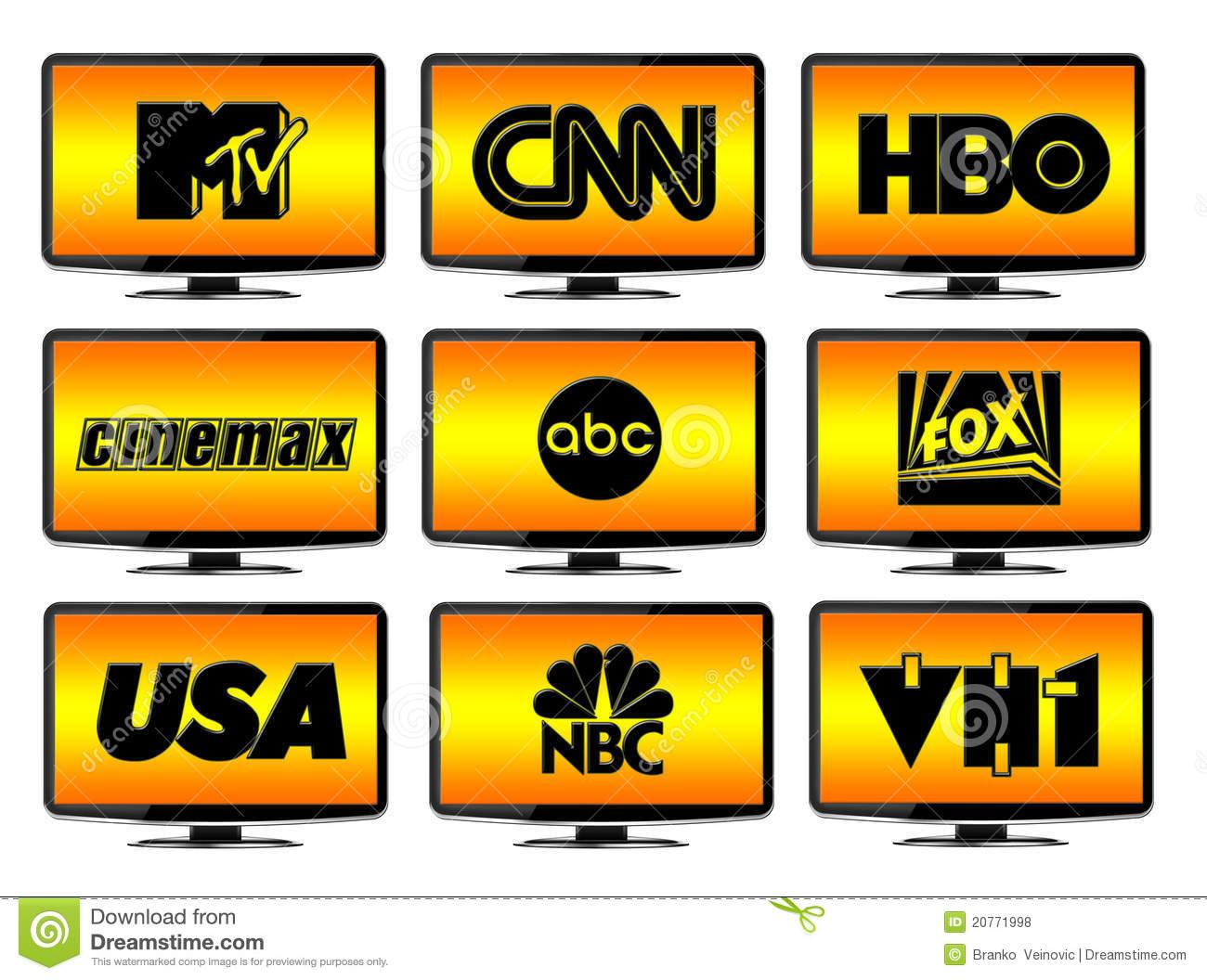 TV Channels List Clip Art.
