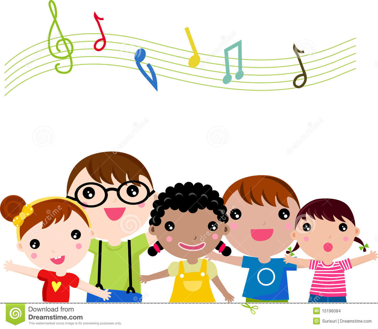 Students Christmas Singers Clipart.