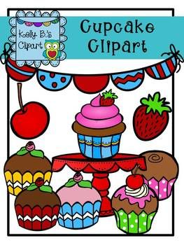Free Cupcake Clipart by Kelly B..
