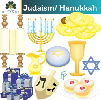 Judaism Hanukkah / Chanukah Clip Art.