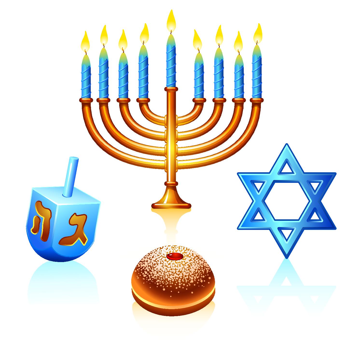 Jewish Menorah Clipart.