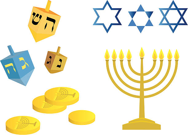 Best Hanukkah Gelt Illustrations, Royalty.
