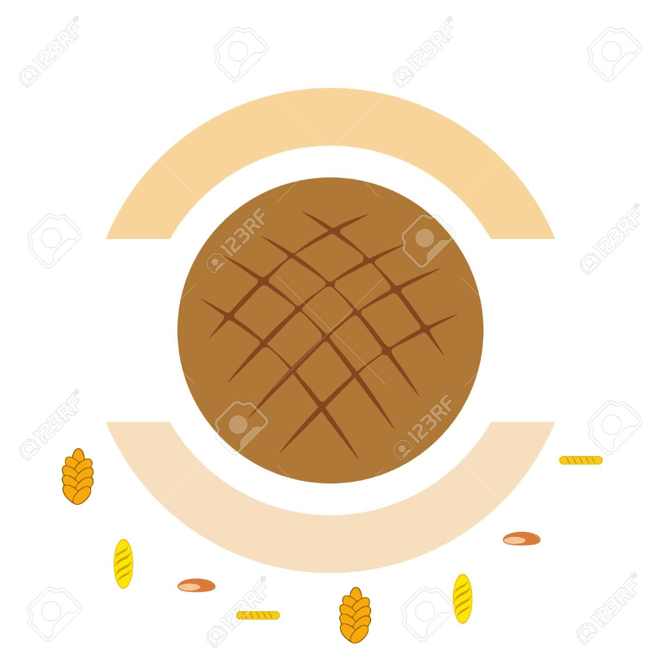 vector illustration of Bakery Product Food Collection.