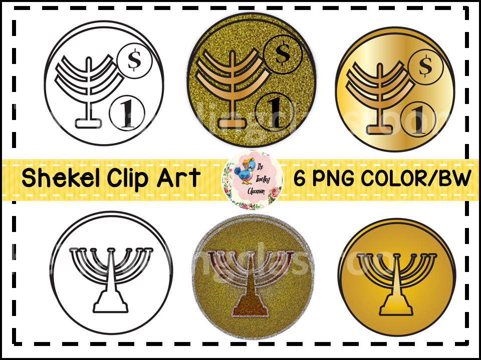 Hanukkah Gelt Clip Art (Commercial Use).