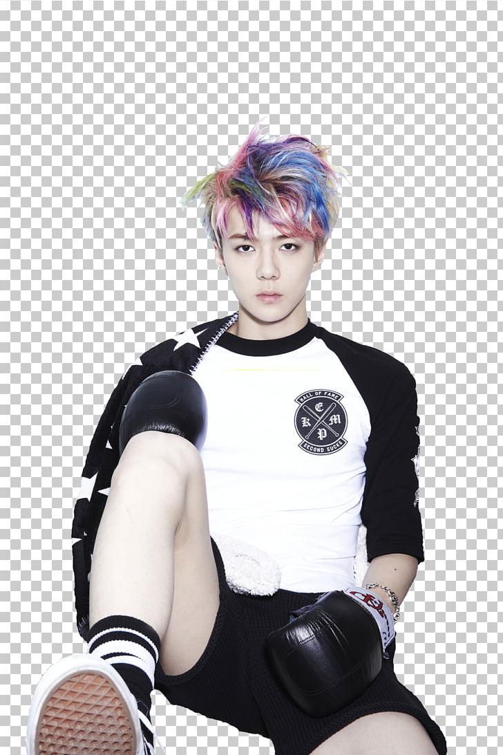 Sehun XOXO EXO Chanyeol, kpop PNG clipart.