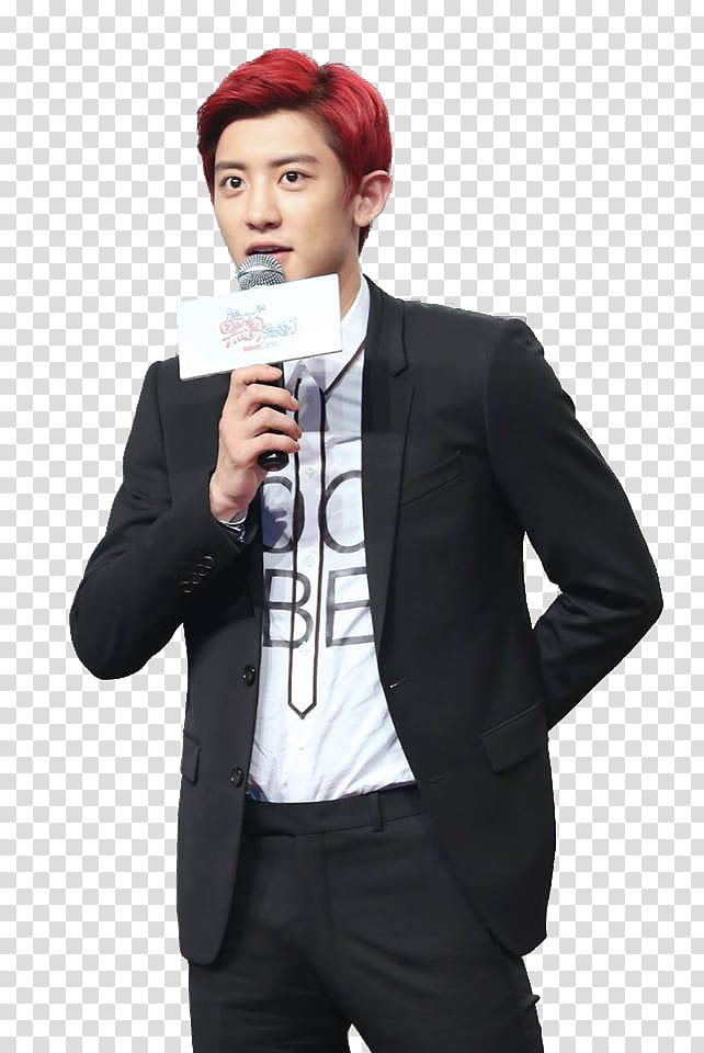 Chanyeol transparent background PNG clipart.