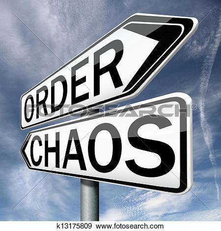 Stock Illustration of order or chaos k13175809.