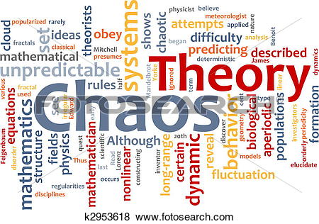 Stock Illustration of Chaos theory word cloud k2953618.