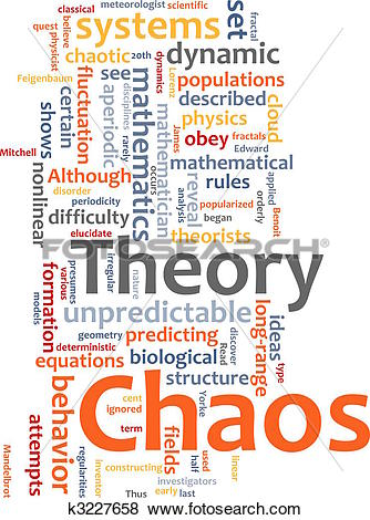 Stock Illustration of Chaos theory word cloud k3227658.