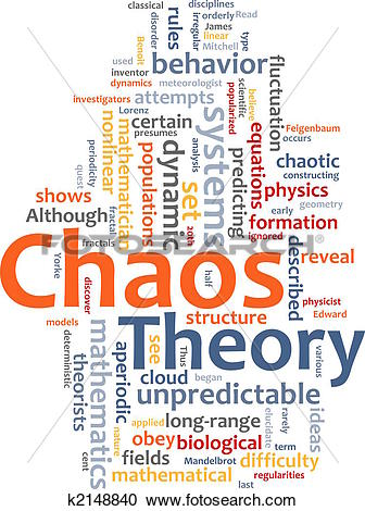 Stock Illustrations of Chaos theory word cloud k2148840.