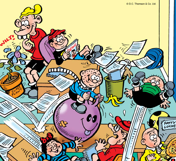 Lew Stringer Comics: Chaos in the classroom!.