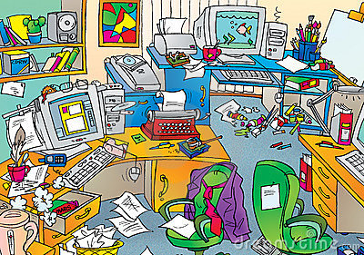Chaotic classroom clipart.