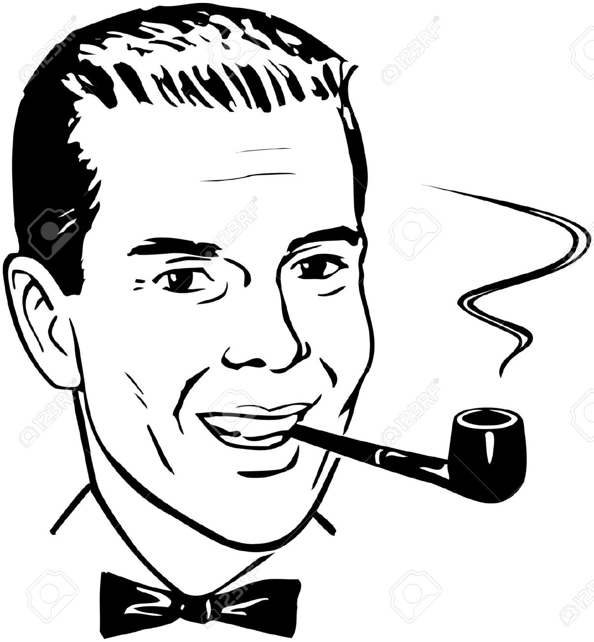 Pipe Smoking Chap Royalty Free Cliparts, Vectors, And Stock.