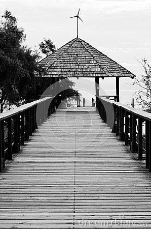 Chapala Pier, Mexico Stock Photo.