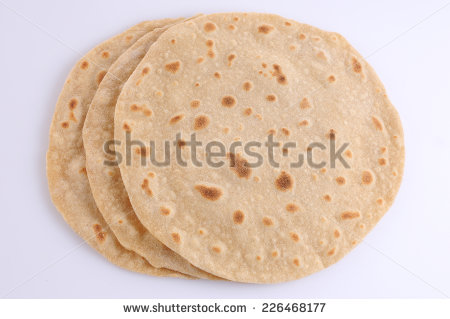 Chapati Stock Images, Royalty.