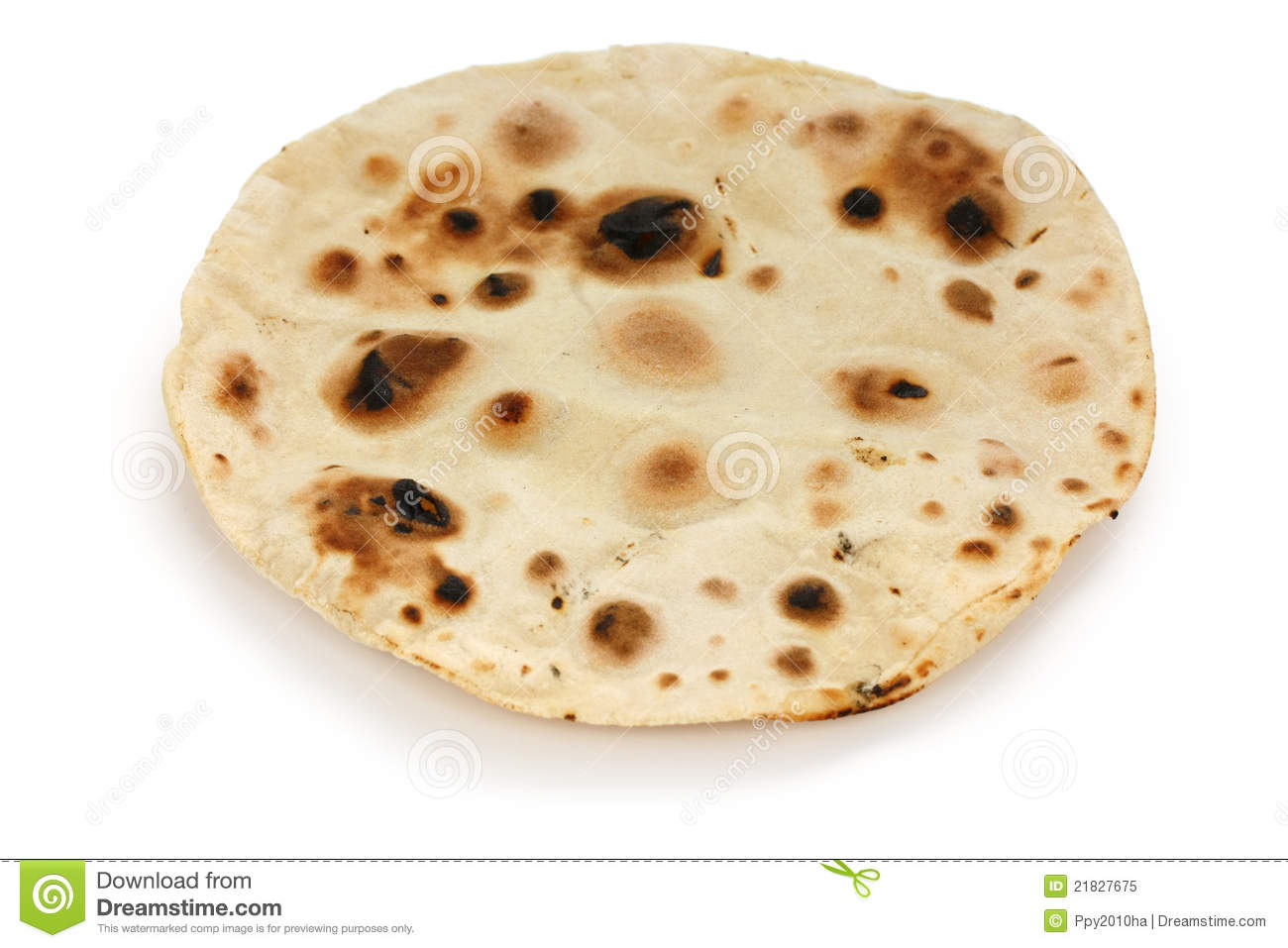 Chapati , Indian Unleavened Flatbread Royalty Free Stock Image.