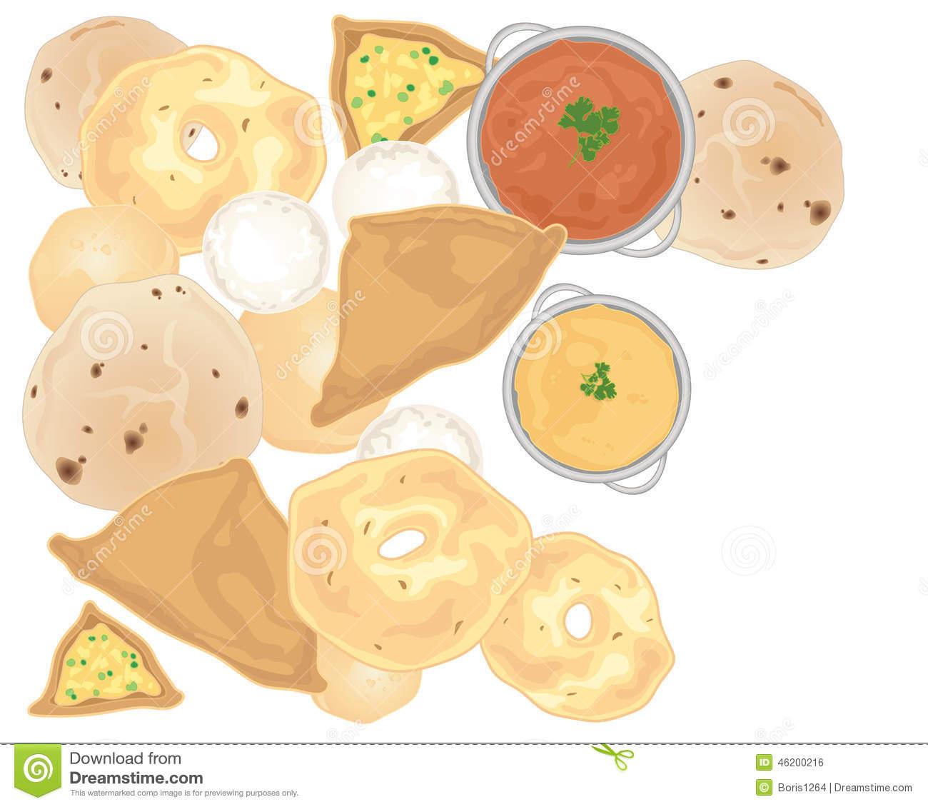 Chapati Stock Illustrations.
