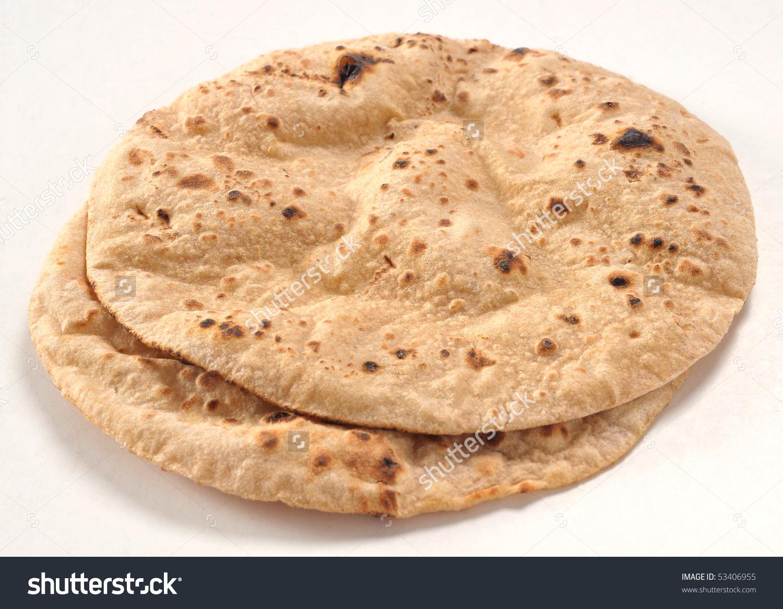 Hot Chapati Stock Photo 53406955.