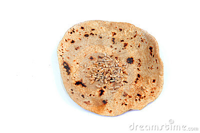 Wheat And Chapati Stock Photo.