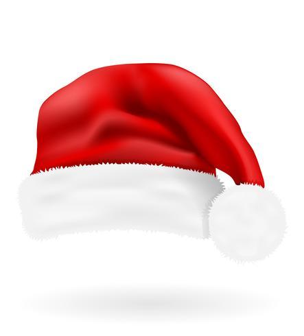 illustration vectorielle de Noël chapeau rouge santa claus.