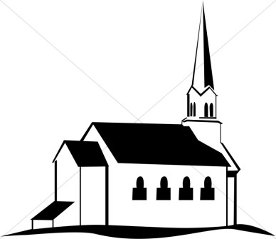 Chapel Clipart Black And White.