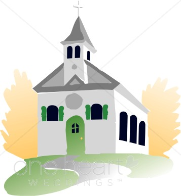 Free wedding chapel clipart.