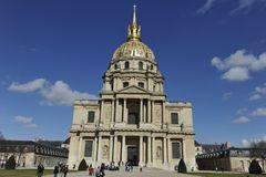 Les Invalides In Paris, Chapel Saint Louis Des Invalides Editorial.