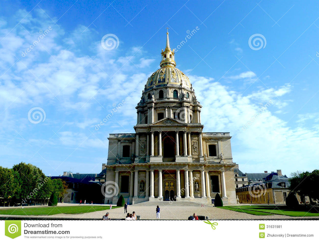 Chapel of saint-lous-des-invalides clipart #5
