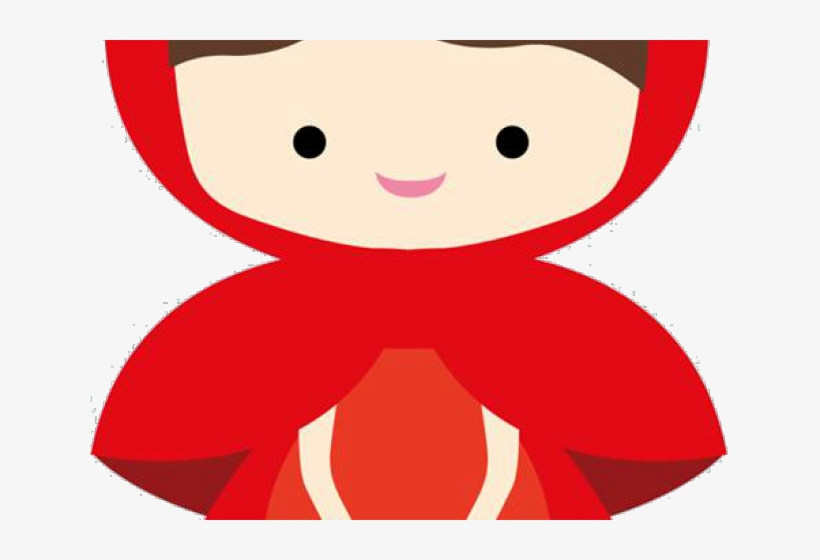 Red Riding Hood Clipart Happy Girl.