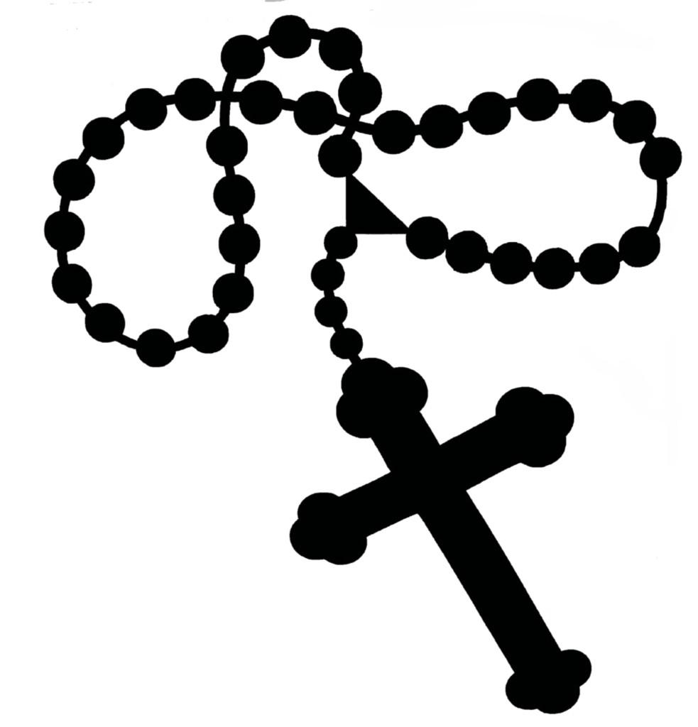 Catholic rosary clipart.