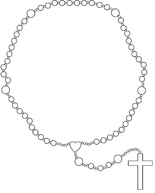 Rosary Prayer Clip Art.