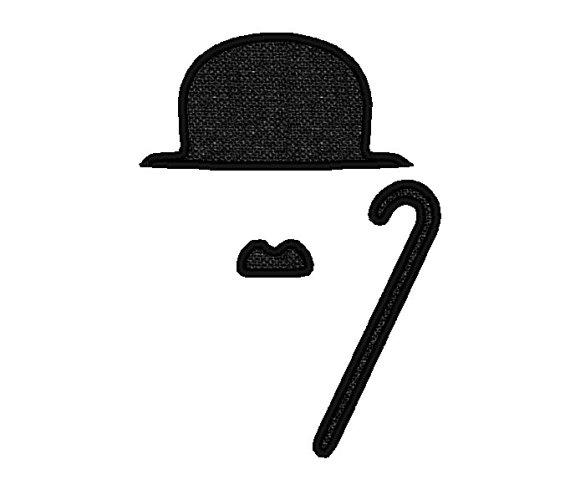 Charlie Chaplin Mustache Clipart.
