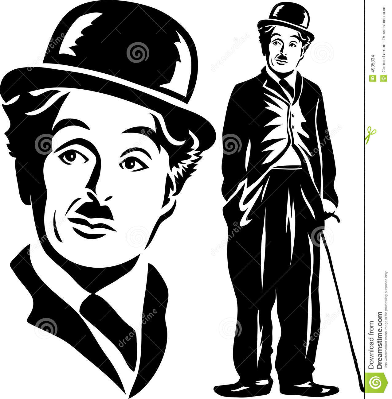 Charlie Chaplin Funny Clip Art.