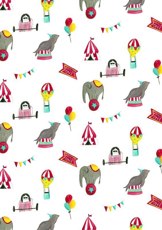 Circus pattern.