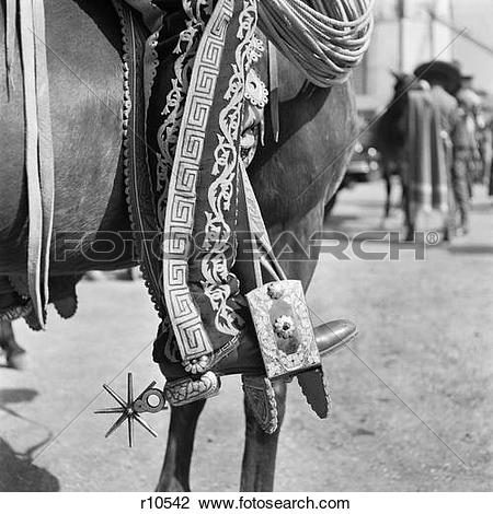 Stock Photo of 1930S Detail Of Traditional Charro Cowboy Costume.
