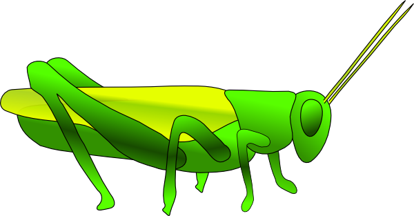 Grasshoppers Clipart.