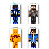 Skin Char Png for minecraft for Android.