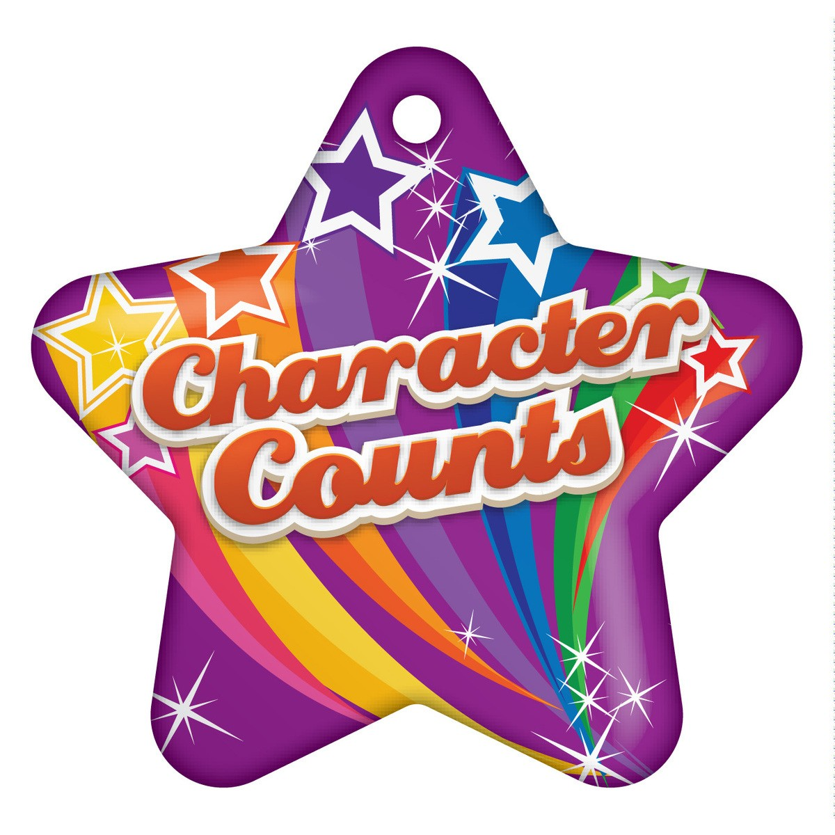 Character Counts Star Brag Tags.