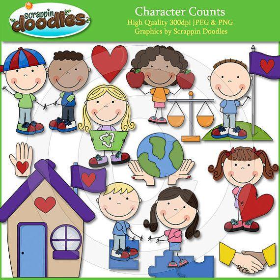 Character Counts Clip Art.