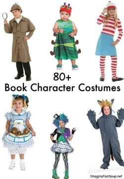 80 Favorite Book Character Costumes clipart royalty free.