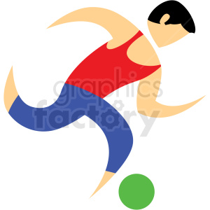 soccer sport character icon clipart. Royalty.