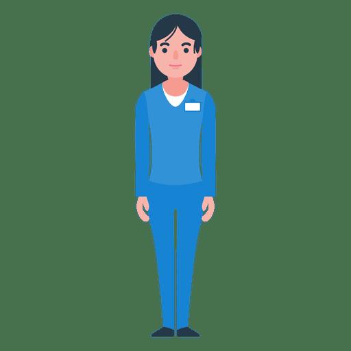 Woman nurse character.