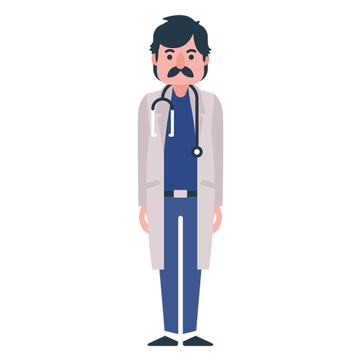 Flat doctor character illustration.