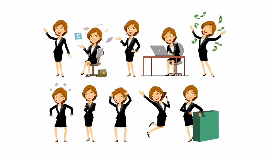 Character Vector Business Woman.