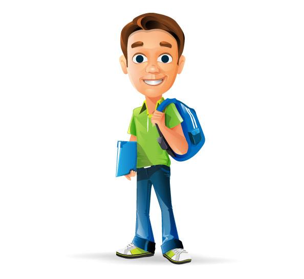 Schoolboy Vector Character.